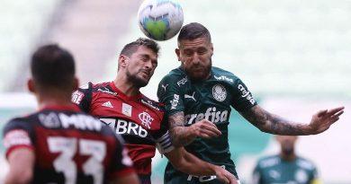 ESPORTES: Após imbróglio judicial, Palmeiras e Flamengo empatam em 1 a 1.