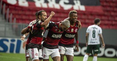 Flamengo vence Palmeiras e segue na luta pelo título.