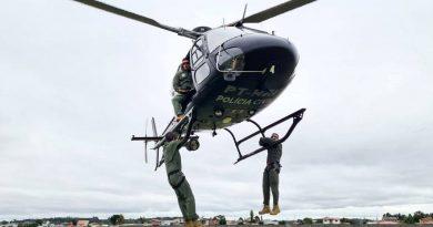 PCPR realiza treinamento aerotático com policiais civis