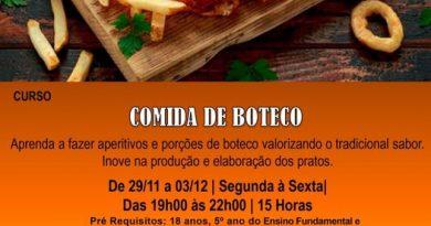 Guaíra SEDE promove curso de Comida de Boteco